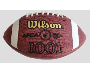 Wilson NCAA AFCA 1001 American Football Gameball - Brown/White - Official Size