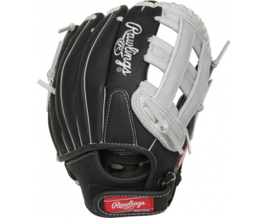 Rawlings SC110 Youth Baseball Glove - Black/Grey - 11 inch