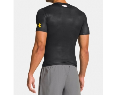 Under Armour Alter Ego Batman Compression SS - Black/Yellow - X-Large