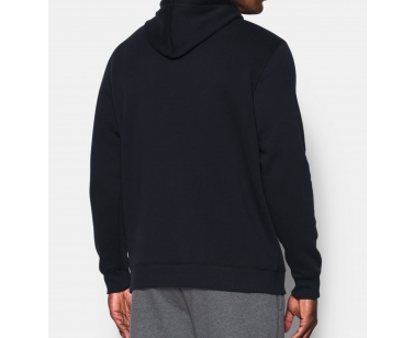 Under Armour Rival Fitted Graphic Hoodie - Black - X-Large