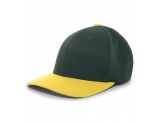pacific-headwear-801f-wool-universal-flexfit-cap-dark-green-gold-youth-xs