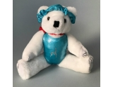 dreamlight-gym-bear-with-leotard-scrunchie-crystal-pattern-12-inch-blue