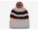 pacific-headwear-641k-pom-pom-cuff-beanie-heather-black-orange-osfm