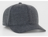 pacific-headwear-289f-herringbone-flexfit-graphite-lg-xl