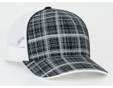 pacific-headwear-111c-crosshatch-trucker-snapback-black-white-adult