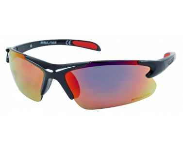 71ae2e66b318 Rawlings RY 103 Youth Baseball Sunglasses - Black/Red - Youth | All ...