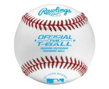 Rawlings TVB Soft Baseball Training Baseball - White - 9 Inch