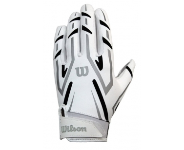 Wilson AD Clutch Skill American Football Receiver Gloves - White/Black - X-Large