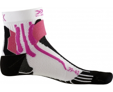X-Socks Run Speed Two Women Socks - White/Black - 35-36