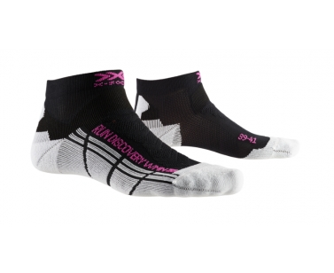 X-Socks Run Discovery Women Socks - Black/White - 37-38