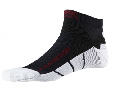 X-Socks Run Discovery Men Socks - Black/White - 39-41