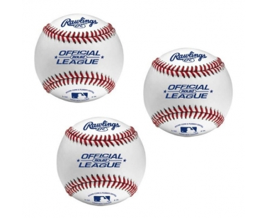 Rawlings 3 STUKS ROLB2 Leather Baseball - Wit - 9 inch