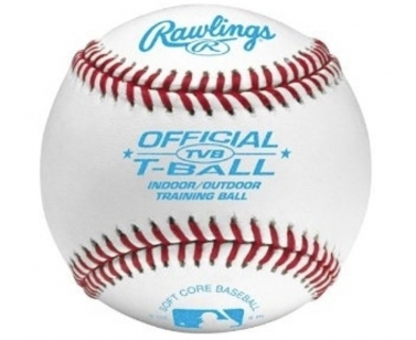 Rawlings 3 STUKS TVB Soft Training Baseball - White - 9 Inch
