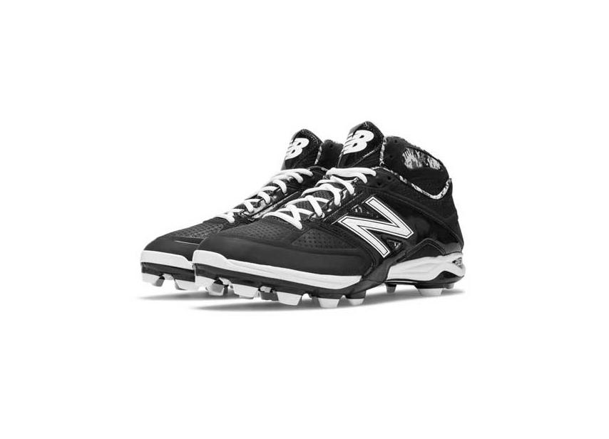 New Balance 4040V2 Mid Molded Cleats - Black White - US 14  08cdf94eb18