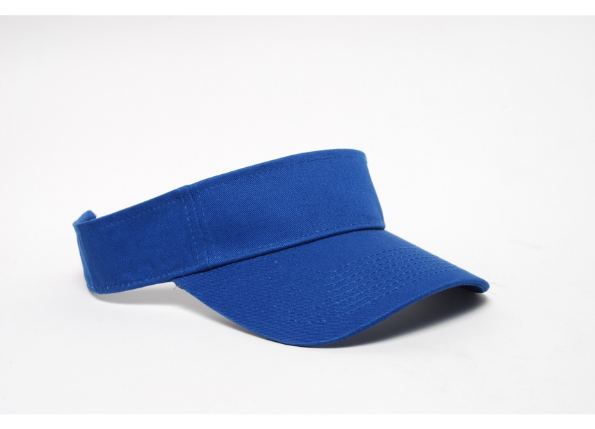 Pacific Headwear 505V Cotton Visor - Royal - Adult | All